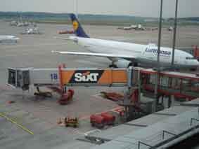 Auf dem Flughafen