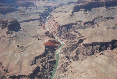 Der Grand Canyon - aus der Luft gesehen