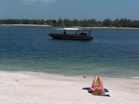 Strandszene in Kenia.