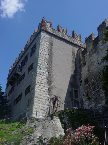Die Festung von Malcesine am Gardasee.