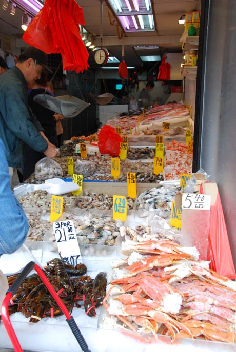 Ein Fischmarkt in New York.