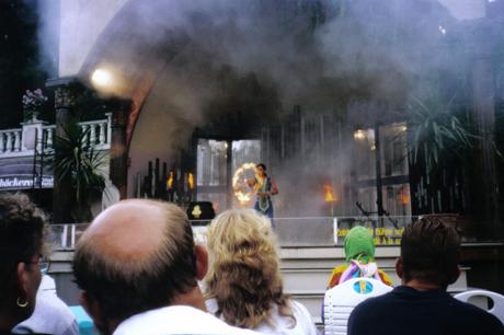 Showbühne im Italienischen Themenbereich des Europa-Park - Show aus den 1990er Jahren