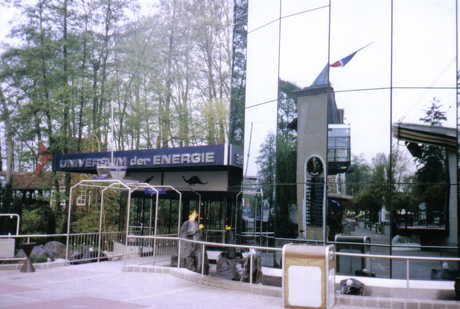 """Der ursprüngliche Eingang vom """"Universum der Energie"""" im Europa-Park."""