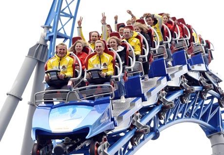 Olympioniken auf dem Blue Fire / Bild (c) by Europa-Park