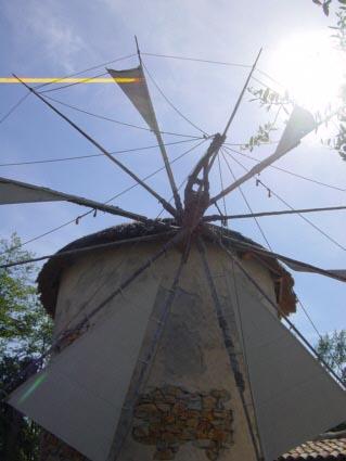 Windmühle im Griechischen Themenbereich des Europa-Park