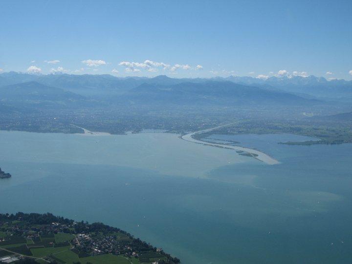 Bodensee und Rhein aus der Luft