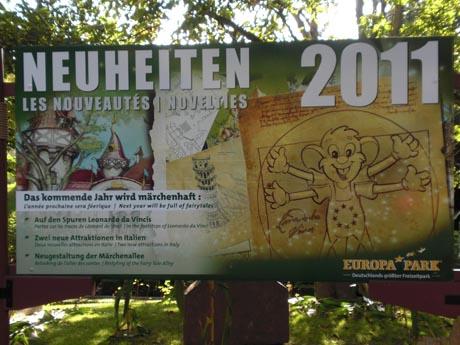 Europa-Park 2011: Die Ankündigungen