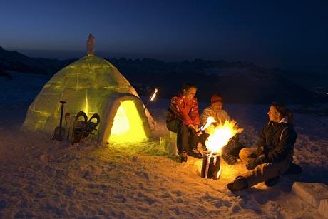 Eskimo-Abenteuer am Pizol im Sarganserland / (c) by www.pizol.ch