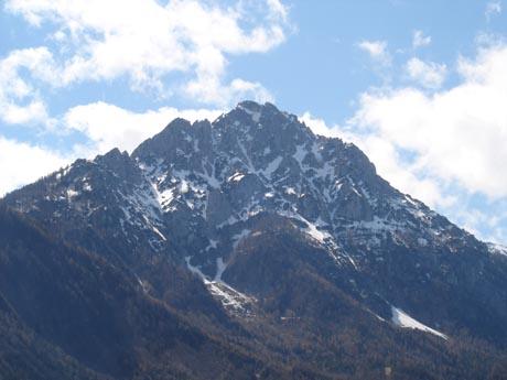 Die bayerischen Alpen.