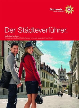 """""""Der Städteverführer"""" von Schweiz Tourismus"""