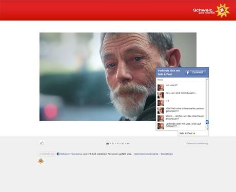 """Social-Media-Kampagne """"Urlaub ohne Internet"""". Bild: Schweiz Tourismus"""