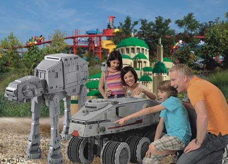 STAR WARS Bereich im MINILAND von LEGOLAND Deutschland. Bild: Legoland Deutschland
