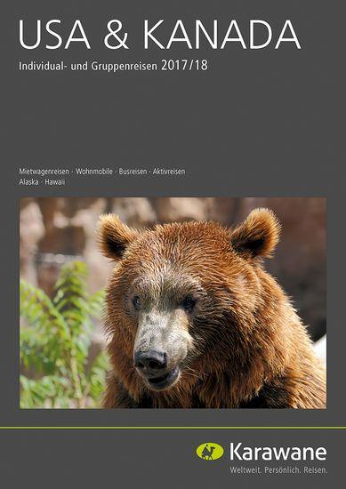 """Der """"USA & Kanada""""-Katalog von Karawane Reisen bietet ein breitgefächertes Angebot von Mietwagen-, Bus- und Aktivreisen. Bild: Karawane Reisen"""