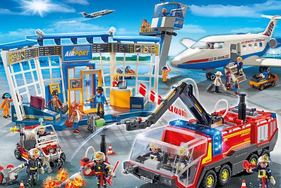 Auf dem neuen City-Flughafen von Playmobil ist Action rund um die Uhr angesagt. Foto: djd/Playmobil