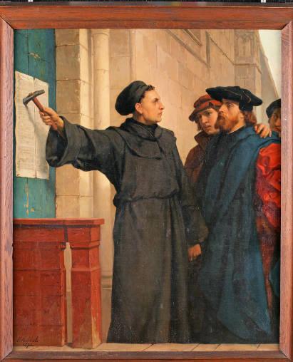 """Ferdinand Pauwels: """"Luthers Thesenanschlag"""". Gemälde aus dem Jahr 1872. Foto: djd/Thüringer Tourismus GmbH"""