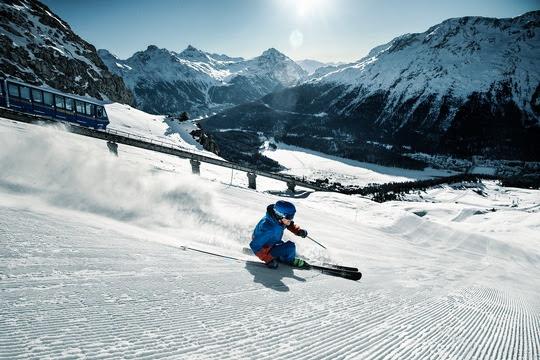 Der St. Moritzer Hausberg öffnet am kommenden Samstag. Photo Credit: Engadin St. Moritz Mountains_Aestivation