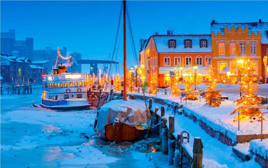 Winter im Husumer Hafen.  Foto (c) Oliver Franke