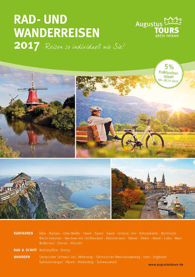 """Neuer Aktivreisekatalog """"Rad- und Wanderreisen 2017"""" von AugustusTours erschienen. Quelle: AugustusTours"""