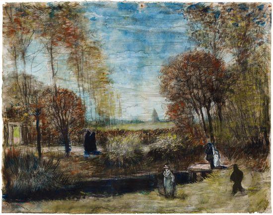 Vincent van Gogh (1853-1890): Der Pfarrgarten in Nuenen, 1885 - Bild: Het Noordbrabants Museum / Niederländisches Büro für Tourismus und Convention