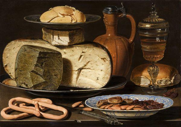 Clara Peeters: Stillleben mit Käse, Mandeln und Brezeln - Quelle: Mauritshuis Den Haag