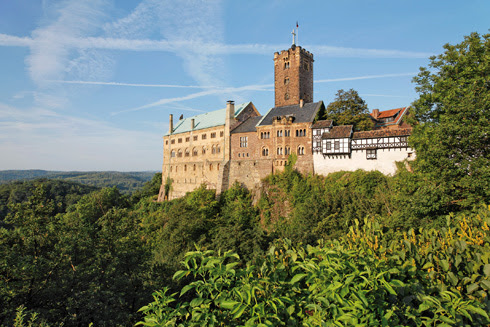Keine Reise zum Thema Reformation führt an Deutschlands berühmtester Burg, der Wartburg, vorbei. Bild (c) Florian Monheim