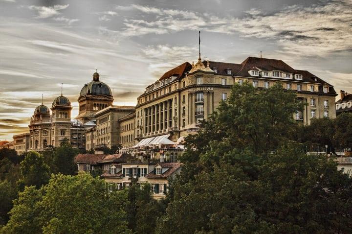 Das Hotel Bellevue Palace Bern. Copyright: BELLEVUE PALACE Bern