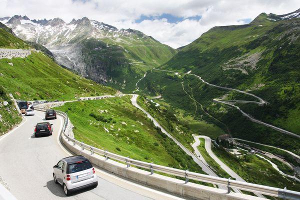 Bei der Bergabfahrt sorgt die Motorbremse für Sicherheit. Foto: dtd/thx
