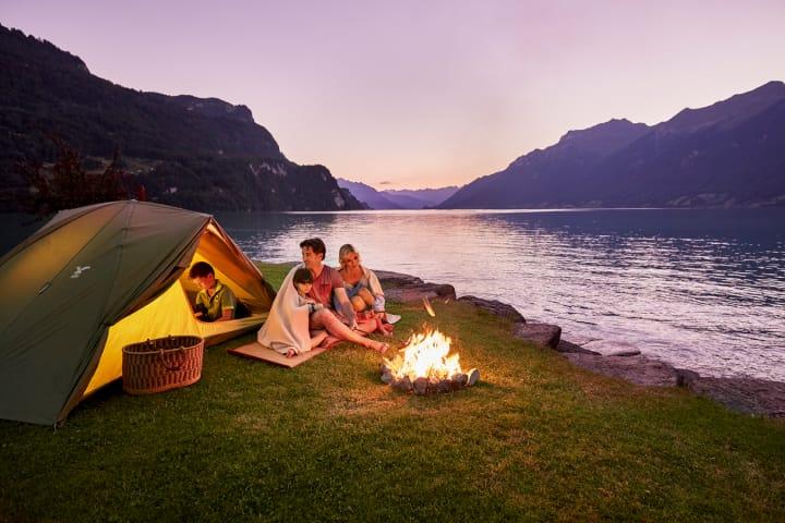 Camping Aregg - Familiencamping am Brienzersee in der Region Bern – Berner Oberland. Bild (c) Camping Aregg