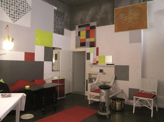 """Ein Nachbau des """"Pariser Ateliers"""" von Piet Mondrian ist in Amersfoort zu sehen. Bild: NBTC"""