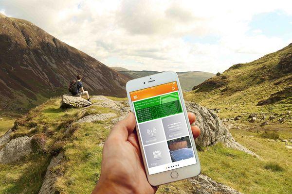 Mit der LUPUSEC App hat man immer alles im Blick. Bild © LUPUS-Electronics