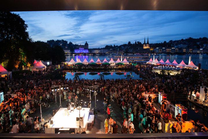 Das Blue Balls Festival in Luzern. Bild: Schweiz Tourismus
