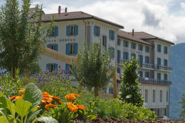 Der Kräutergarten der Villa Honegg. Bild: Schweiz Tourismus