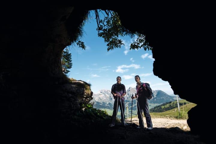 Blick vom Wildenmannlisloch zum Säntis. Bild: Schweiz Tourismus