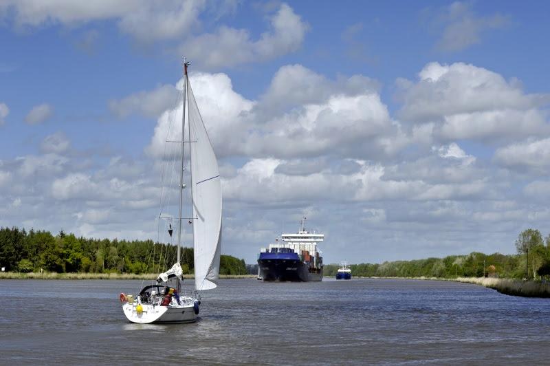 Unterwegs am Nord-Ostsee-Kanal. Bild (c) Dithmarschen Tourismus