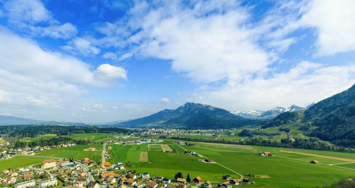 Das Greyerzerland in der Region Fribourg: Austragungsort des 61. Gordon-Bennett-Cup. Bild © Margaux Koller