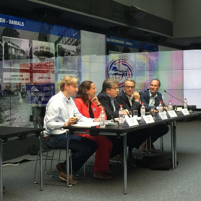 EAS-Pressekonferenz: Jakob Wahl, Martina Stuben, Michael Kreft von Byern, Jan Janssen und Michiel Illy