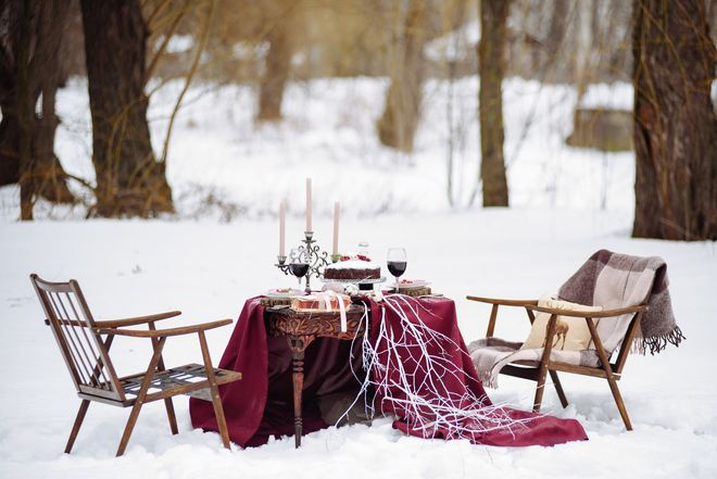 Trauung auf Schloss Hohenstein im Winter. Bild Schloss Hohenstein / max.pr