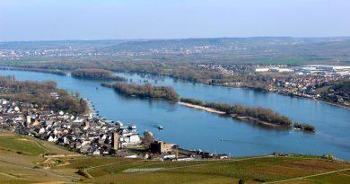 Blick vom Niederwalddenkmal auf den Rhein. Foto: djd/nicko-cruises.de