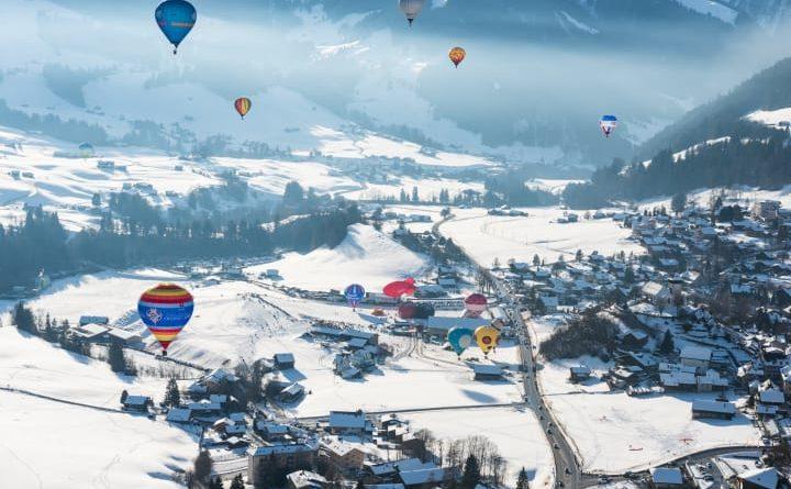 Das Ballonfestival von Chateau-D'Oex, Genferseegebiet. Bild: Schweiz Tourismus