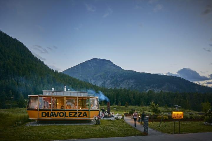 Die Gondolezza in Pontresina, Graubünden. Bild: Hotel Walther
