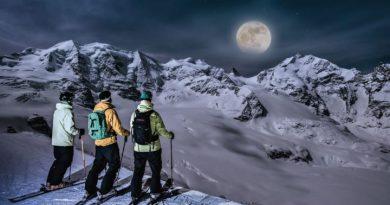 Vollmond-Skifahren auf der Diavolezza. Bild © Engadin St. Moritz