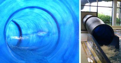 blaue Röhrenrutsche | Frankenlagune Hirschaid