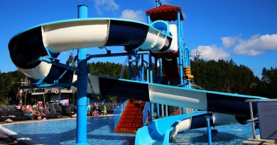 offene Riesenrutsche :: Water Play House Slide | Dyreparken Badelandet Kristiansand