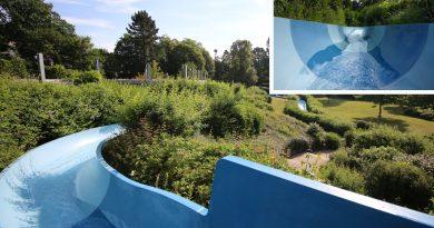 Freibad-Reifenrutsche | Das Blau St. Ingbert