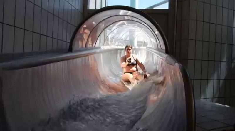 transparente Edelstahl-Tunnelrutsche | Arriba Norderstedt