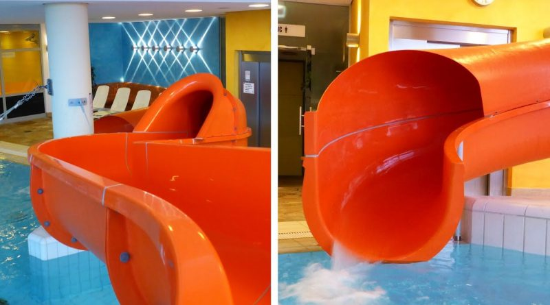offene Riesenrutsche :: Orange Water Slide | Therme Obernsees Mistelgau