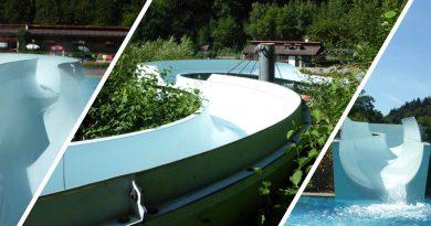 Freibadrutsche :: hangverlegte Riesenrutsche | Sommerbad Wirsberg