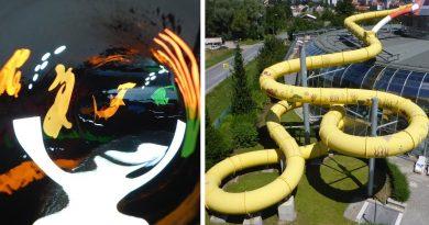 Black Hole Röhrenrutsche :: Reifenrutsche / Body Slide | Aquapark Olomouc