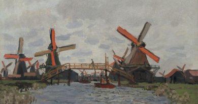 Claude Monet, Mühlen bei Zaandam, 1871, Van Gogh Museum Amsterdam