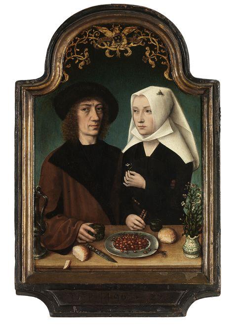 Meister von Frankfurt, Der Maler und seine Frau, Koninklijk Museum voor Schone Kunsten Antwerpen